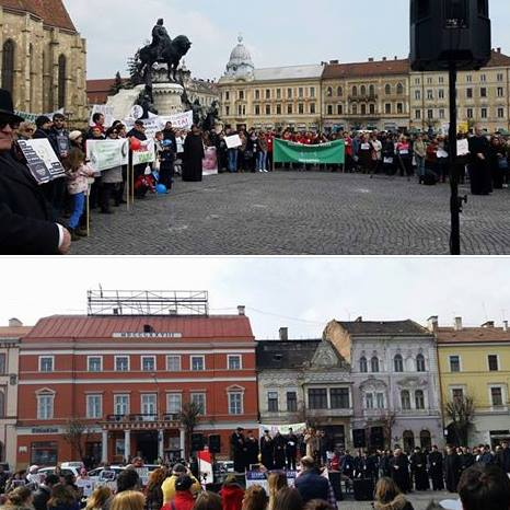 Photo credit FB Marsul pentru viata Cluj-Napoca