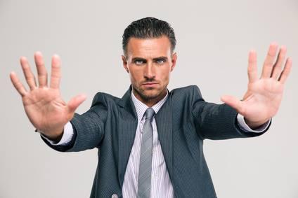 man stop Photo credit www.mindbasedhealing.com