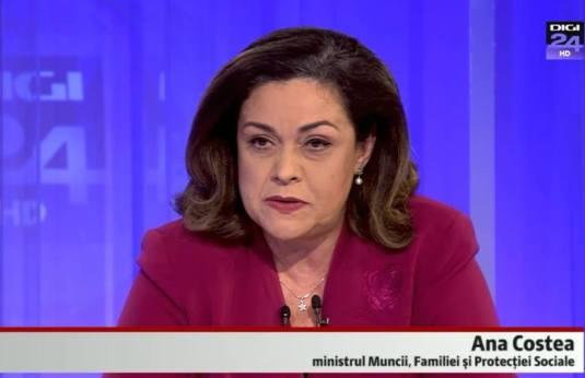 Ana Costea Ministrul Muncii, Familiei si Protectiei Sociale Romania