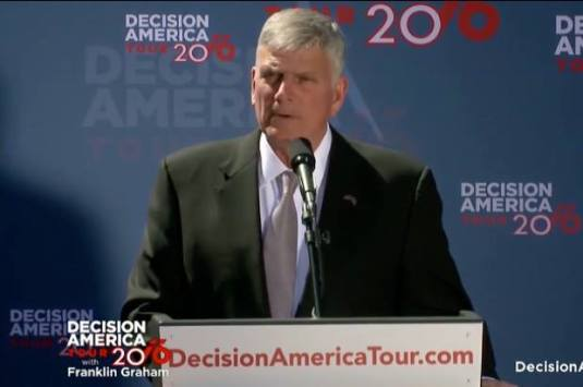 Franklin Graham Decision America 2016 in Phoenix, AZ March 18,2016