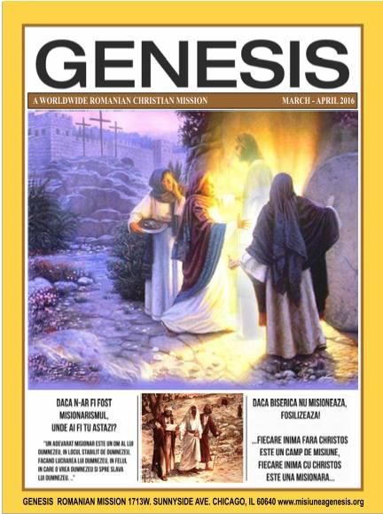 Revista Genesis Editia Martie - Aprilie 2016