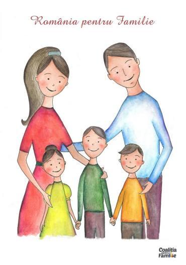 """Afiș """"România pentru Familie"""", grafică semnată de Veronica Iani."""