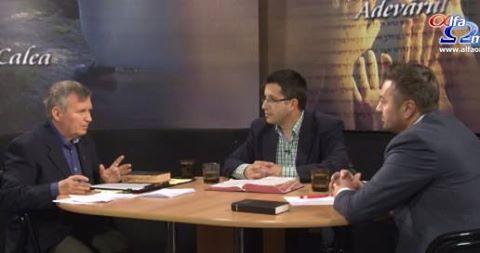 Catalin Baciu, director al organizatiei Teen Challenge si David Moza, coordonatorul slujirii Ellel din Romania cu Tudor Petan la Emisiunea Calea, Adevarul si Viata.