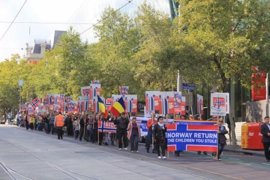 Protest Melbourne Australia 16 Aprilie Foto Samy Tutac