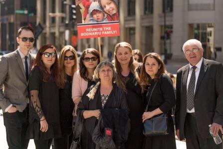 Protest Chicago Familia Bodnariu