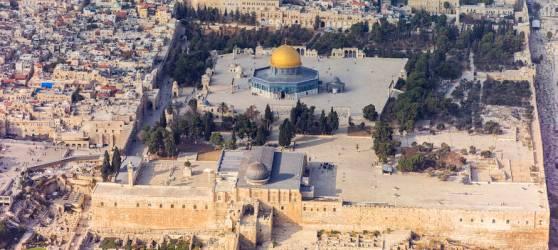 Israel aerial Jerusalem Temple Mount