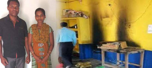 A Pentecostal Pastor and Pregnant Wife Almost Burned Alive by Radicals in India