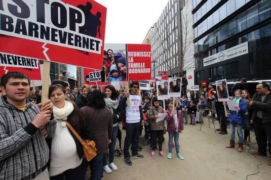 Protest Bruxelles in fata Parlamentului European