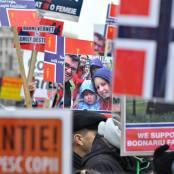 BUCURESTI - Protest Global pentru familia Bodnariu