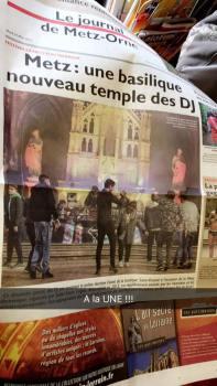 Cotidianul francez Metz - Catedrala, templul nou al DJ-ului Foto Irenee Sutter