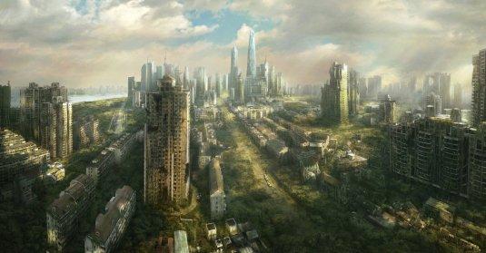 shanghai in ruins