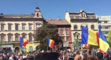 Arad Protest Aprilie 16