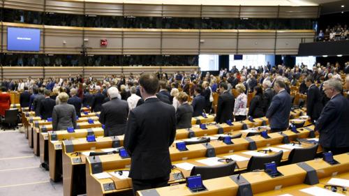 European parliament Bruxelles Foto tumbler