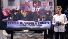 Inger Elizabeth Baunedal, sora lui Ruth Bodnariu, la o dezbatere pe tema protestelor la televiziunea norvegiana NRK 1