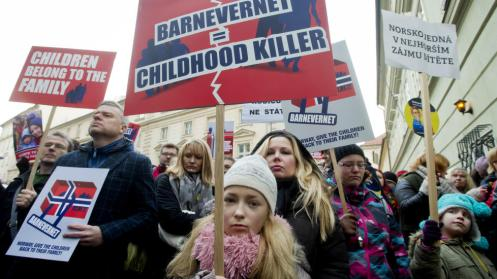 Protest Norway Barnevernet Childhood killer