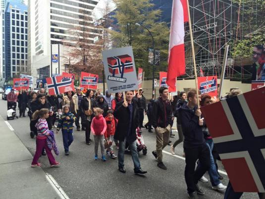 Vancouver B C Protest april 16