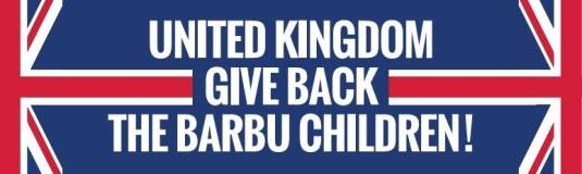 Florin Barbu banner United Kingdom give the Barbu children back