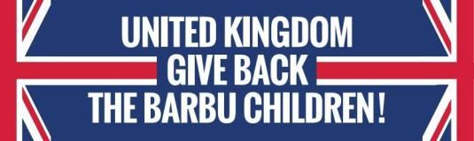 Florin Barbu banner United Kingdom give the Barbu children back
