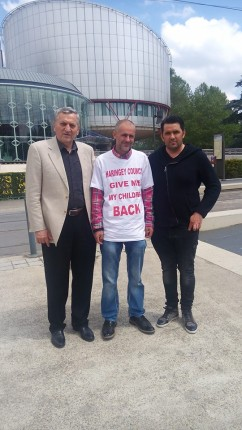 Ioan Valean si Iacob Berghianu in vizita la Florin Barbu CEDO Strasbourg 25 mai 2016