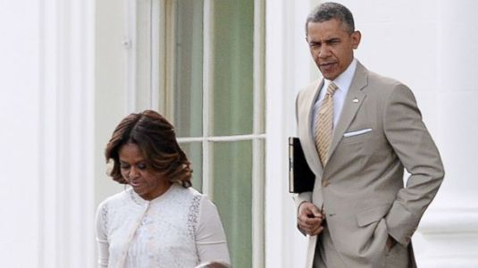 Michelle and Barack Obama going to church on Good Friday 2016 Photo abcnews.go.com