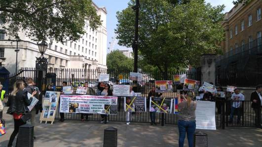 Florin Barbu - Andreea Sutton Bradeanu Protest LONDRA 28 mai