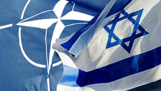 nato israel flags