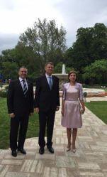 Ben Oni Ardelean lecepția cu ocazia Zilei Europei, găzduită de către Președinte Klaus Iohannis la Palatul Cotroceni