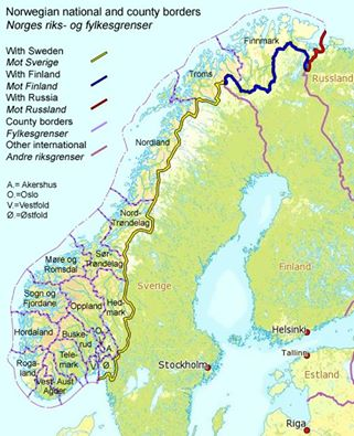Norway borders Foto Wikipedia