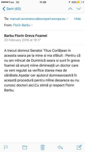 Florin Barbu, greva foamei,Titus Corlatean
