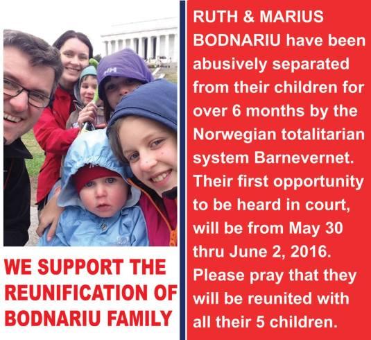 Bodnariu family poster Romanian Tribune Newspaper