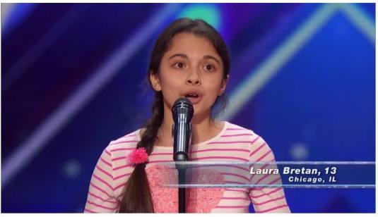 Laura Bretan America's Got Talent 1