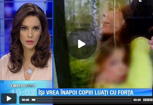 Observator TV Camelia Smicala cu copiii Finlanda