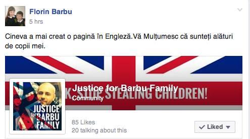 Urmareste-l pe Florin Pagina in Limba Engleza pentru familia lui Florin Barbu