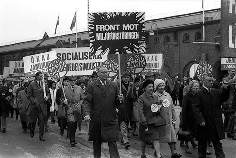 Demonstrație de stradă pentru socialism și stat asistențial, Suedia, 1968. Sten-Åke Stenberg / Flickr