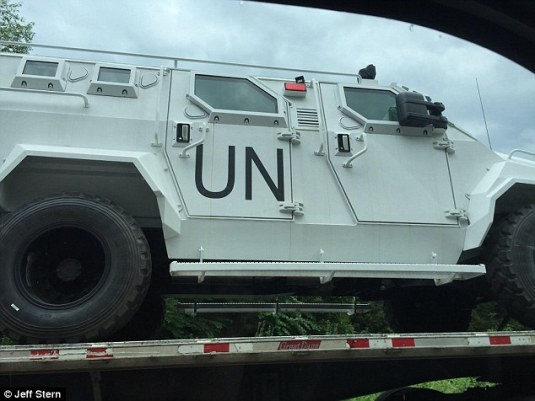 UN Combat militar y vehicles in Virginia Photo Jeff Stern via Daily Mail