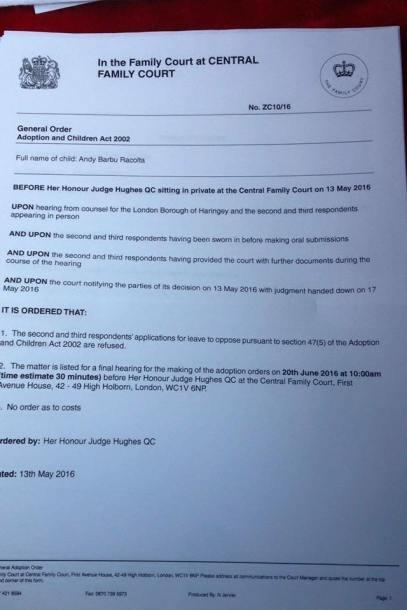 Hotararea judecatoreasca pentru Diana si Andy Barbu