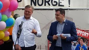 Marius Reikeras cu Europarlamentarul Europarlamentarul Czech Tomas ZdechovskyFOTO Mihai Dragoman