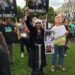 Protest OSLO, Norvedia 11 iunie Foto Jitka Fialová