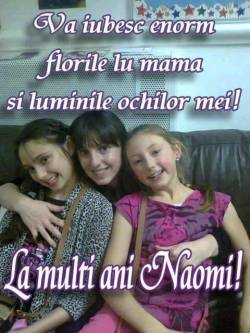 La Multi Ani NAOMI ! Happy 13th Birthday NAOMI !