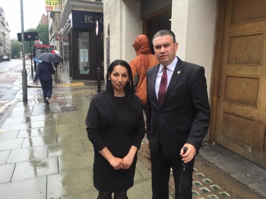 Claudia Racolta cu Ben Oni Ardelean Londra 20 iunie 2016