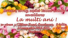 La Multi Ani NAOMI ! Happy 13th Birthday NAOMI !