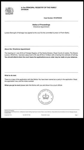 Florin Barbu demand to return to England 1 july 2016