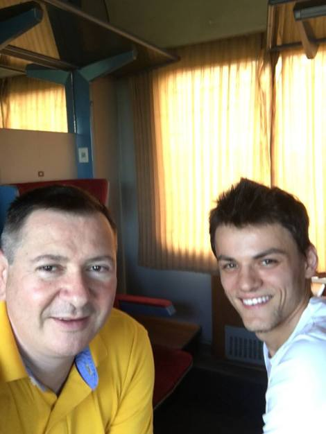 Florin Ianovici Daniel Popescu in drum spre Ucraina