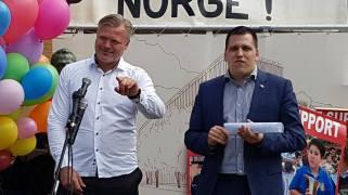 Marius Reikeras cu Europarlamentarul Tomas