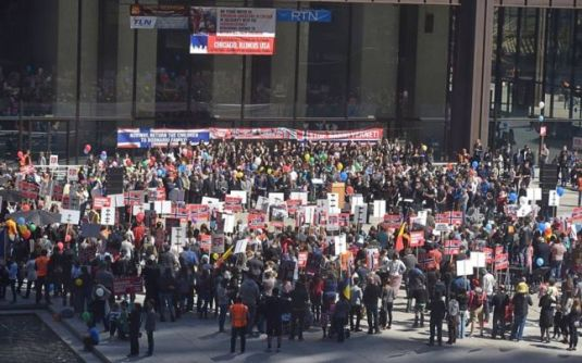 Protest anti Barnevernet CHICAGO 16 Aprilie 2016