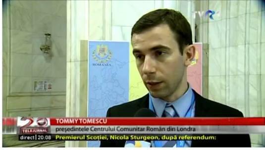 Tommy Tomescu TVR Românii de Pretutindeni, îngrijoraţi de Brexit