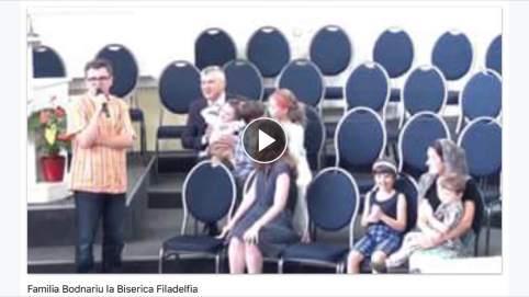 Familia Bodnariu la Biserica Filadelfia