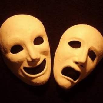 Greek tragedy masks
