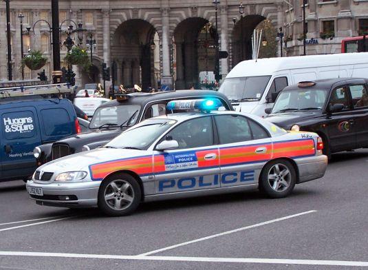 masina de politie in Londra, Anglia