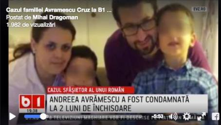 Andreea Avramescu-Cruz condamnata la inchisoare B 1 TV 4 iulie 2016
